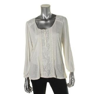 Denim & Supply Ralph Lauren Womens Lace Trim Boho Pullover Top