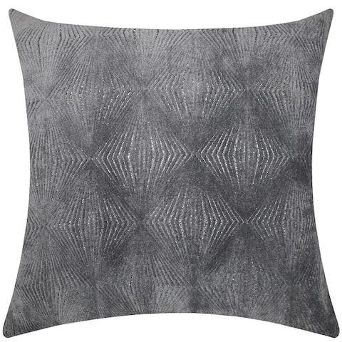 "Rodeo Home Calista Metallic Geometric Velvet Decorative Pillow 18"" x 26"""