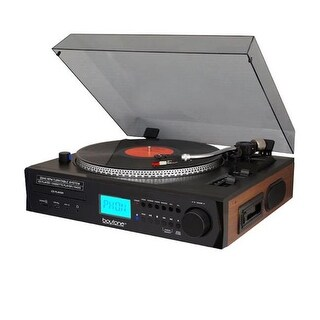 Boytone BT11B Brown Prostyle Turntable with Pitch Control