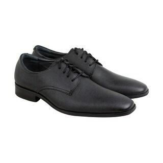 Calvin Klein Gordon Textured Mens Black Synthetic Casual Dress Oxfords Shoes