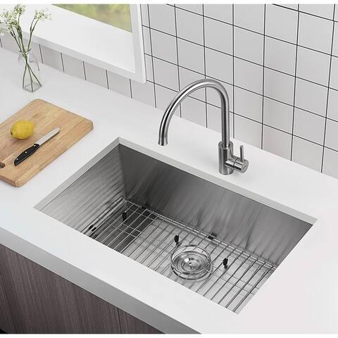 Moda MD-NF3018 Stainless Steel Sink - 30 IN?18 IN?10 IN - 30 IN×18 IN×10 IN