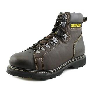 "Caterpillar Alaska 6"" Men W Round Toe Leather Brown Work Boot"