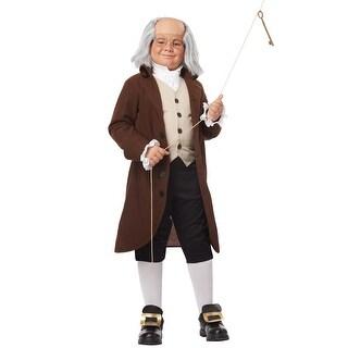 California Costumes Benjamin Franklin Colonial Child Costume - Brown