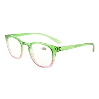 Eyekepper Fashion Readers Womens Reading Glasses (Green-Pink Frame, +1.75)