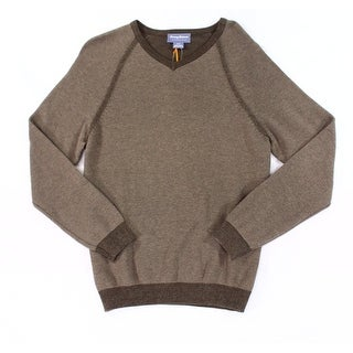 Tommy Bahama NEW Brown Mens Size Medium M Reversible V-Neck Sweater