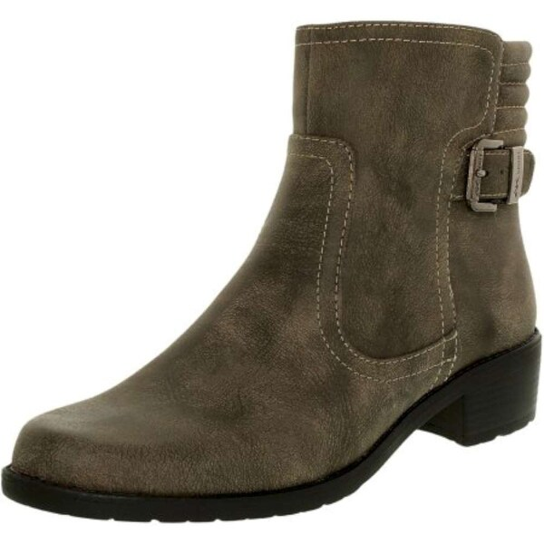 Anne Klein Womens LANETTE Closed Toe Ankle Fashion Boots, TAUPE SY, Size 6.0
