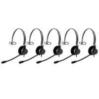 Jabra BIZ 2300 QD Mono Corded Headset 2303-820-105 for Desk Phones (5 Pack)