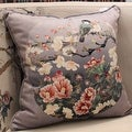 "Luxury Gray Purple Bird Round Printing Pillow 18""X18"" - Thumbnail 0"