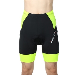 REALTOO Authorized Men Summer Bicycle Underwear Cycling Shorts Black L (W 38)