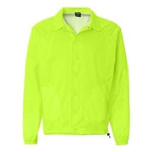 Rawlings Nylon Coach's Jacket - Safety Green - 2XL