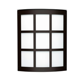 Besa Lighting 108-842207 Moto 2 Light ADA Compliant Outdoor Wall Sconce with White Glass Shade