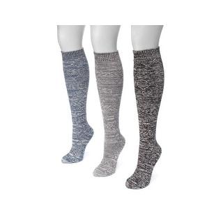Muk Luks Socks Womens Diamond Knee High 3 Pack One Size 0023465 - One size