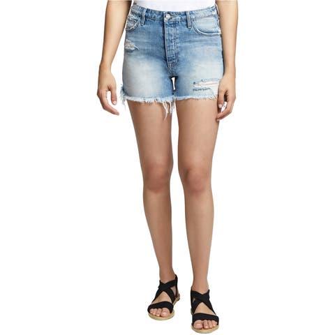 Sanctuary Clothing Womens Ripped Reagan Casual Denim Shorts
