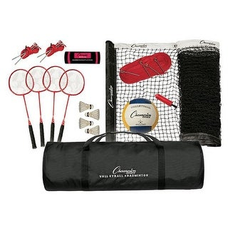 Champion Sports CG202 Tournament Series Volleyball & Badminton Set