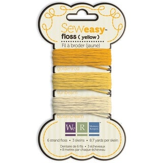 Sew Easy Solid 6-Strand Floss 8.7yd 3/Pkg-Yellow