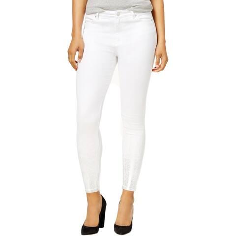 Celebrity Pink Womens Juniors Skinny Jeans Denim Metallic