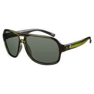 Ryders Eyewear Pint Crystal Green R838-004 Polarized Green Lens Sunglasses