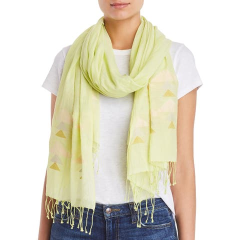 Eileen Fisher Womens Scarf Organic Cotton Fringe - Lemic - O/S