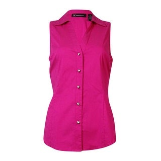 INC International Concepts Women's Sleeveless Buttoned Top