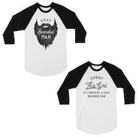 47ea21f2a4 Shop Taken By Sexy Bearded Man Black Couple Hoodies For Valentine's ...