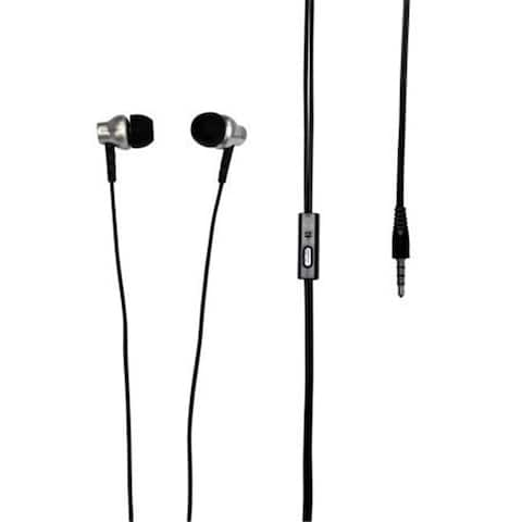 Ear Silicon Earbuds with Microphone - Gray