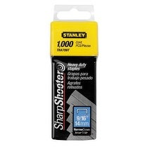 """Stanley TRA709T Heavy Duty Staples 9/16"""", 1000/Pack"""