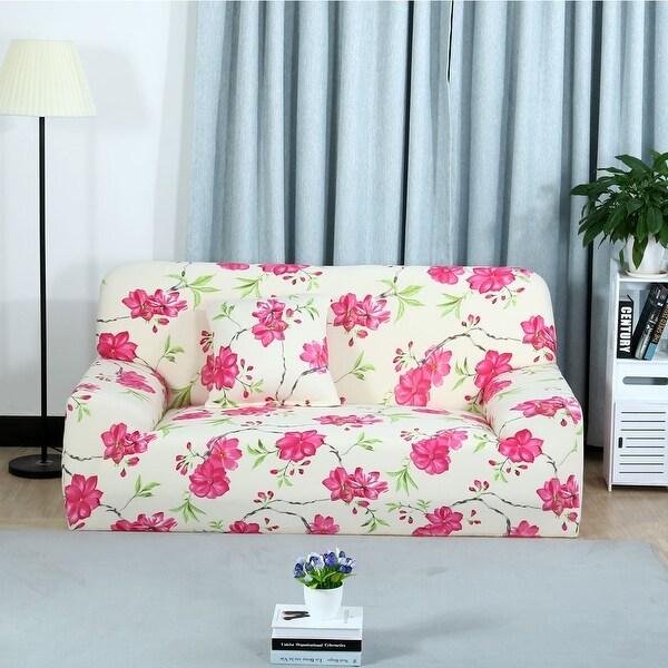 Unique Bargains Flora Print Elastic Fabric Sofa Covers Stretch Sofa  Slipcovers (1 2 3 Seater