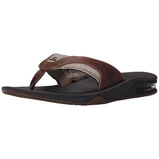 Reef Mens Fanning Flip-Flops Leather Thong