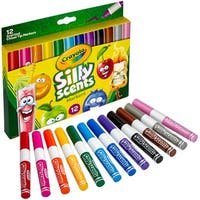 Crayola Silly Scents Wedge Tip Washable Markers-12 Colors