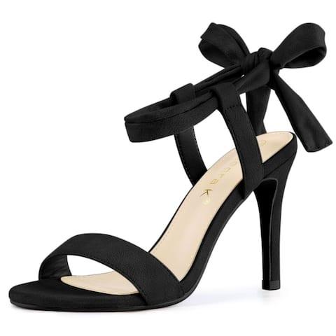 Women's Open Toe Lace Up Stiletto High Heel Sandals
