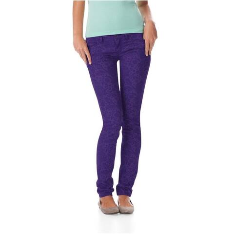 Aeropostale Womens Ashley Ultra Animal Print Skinny Fit Jeans