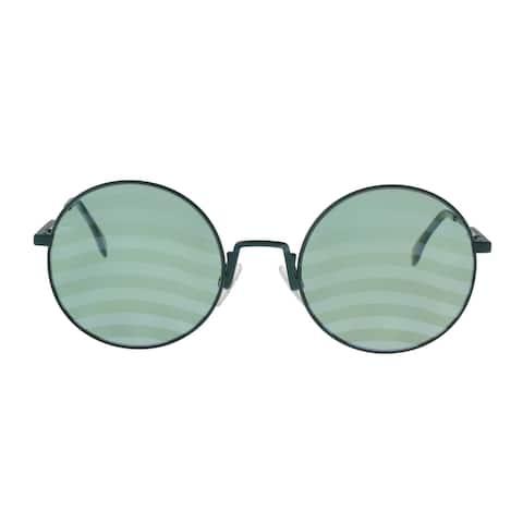 FENDI FF 0248/S 01ED Green Round Sunglasses - No Size