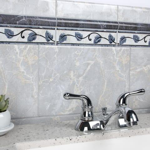 "SomerTile Aroas Gris 8"" x 12"" Ceramic Wall Tile"