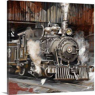 """Train"" Canvas Wall Art"
