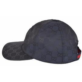 NEW Gucci Men's 387578 BLUE Nylon GG Guccissima Web Stripe Baseball Cap Hat M