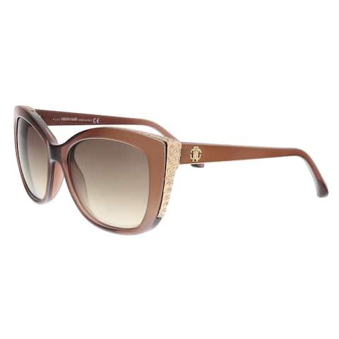 Roberto Cavalli RC888S 83G Mekbuda Brown Cat Eye Sunglasses - 54-17-135