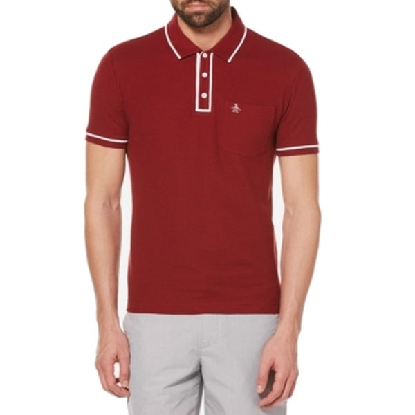 52b99b78 Shop Original Penguin NEW Red Mens Size 2XL Polo Heritage Slim Fit Shirt -  Free Shipping On Orders Over $45 - Overstock - 20516697