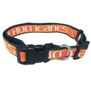 University of Miami Nylon Adjustable Dog Collar