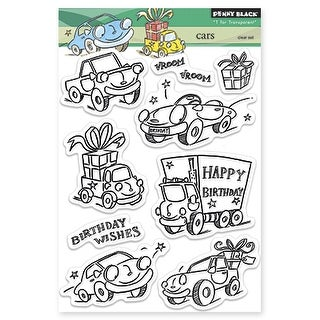 """Penny Black Clear Stamps 5""""X7""""-Cars"""