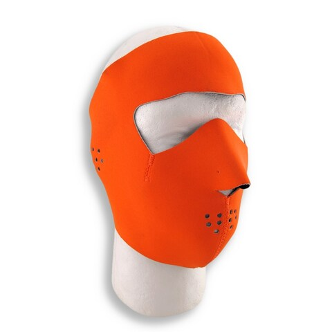 Bright Orange Neoprene Motorcycle Face Mask Facemask