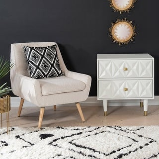 Link to Arlo White Faux Sherpa Accent Chair Similar Items in Living Room Chairs