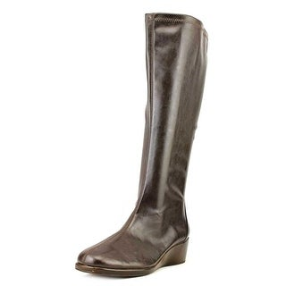 A2 By Aerosoles Tempirical Women Round Toe Synthetic Brown Knee High Boot