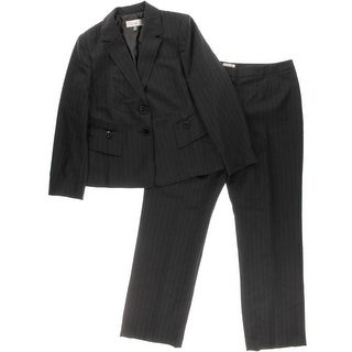 Le Suit Womens Pant Suit Pinstripe 2PC