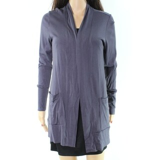 Bobeau NEW Blue Open-Front Women's Size Medium M Pockets Knit Jacket