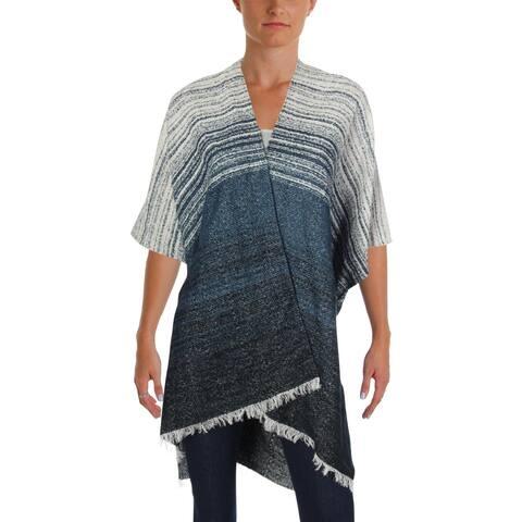 Lucky Brand Womens Kimono Striped Fringe Trim - O/S