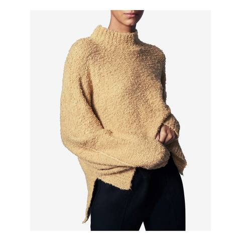 B NEW YORK Womens Gold Slitted Long Sleeve Sweater Size XS