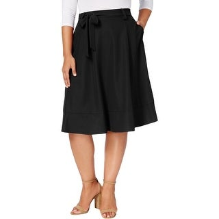 NY Collection Womens Plus Midi Skirt Dressy Wear To Work