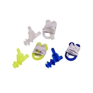 Unique Bargains 12 Pcs Swim Gear Combo Set Nose Clip + Ear Plugs For Leisure Swimming