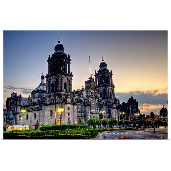 """""""Mexico City Cathedral"""" Poster Print"""