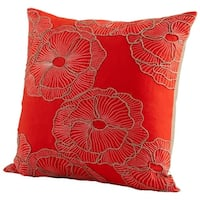 Cyan Design Petunia Pillow Petunia 18 x 18 Square Pillow - Red